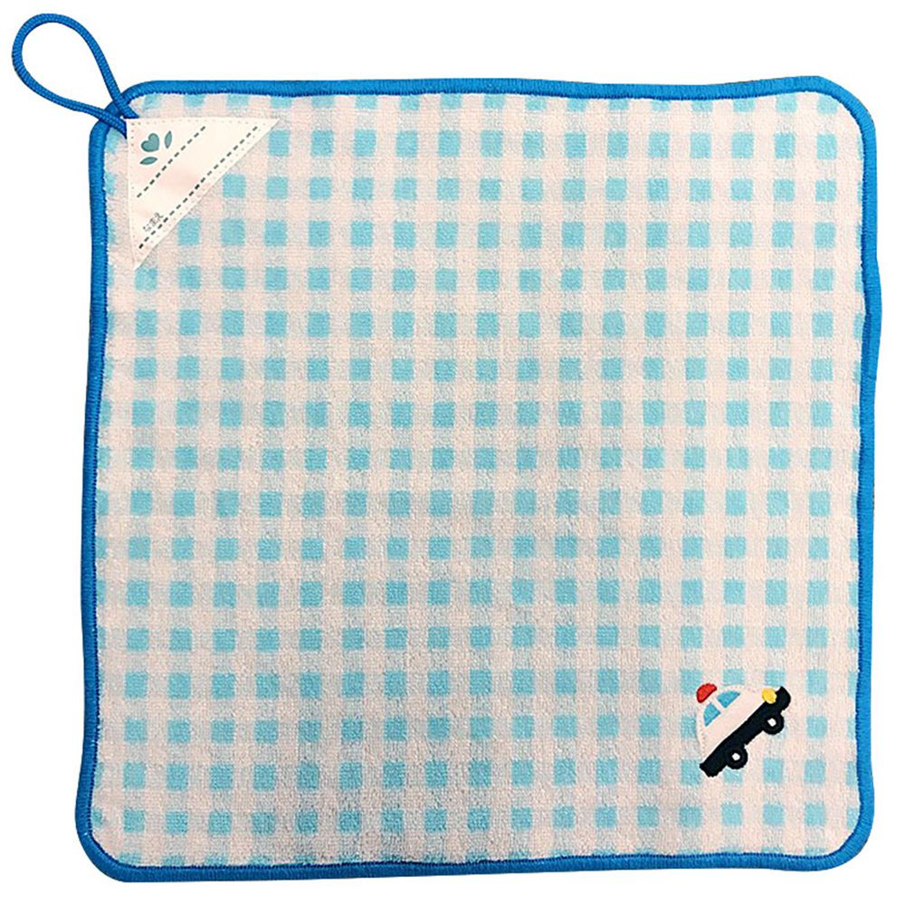 akachan honpo - 擦手巾-汽車-藍色-34×34cm