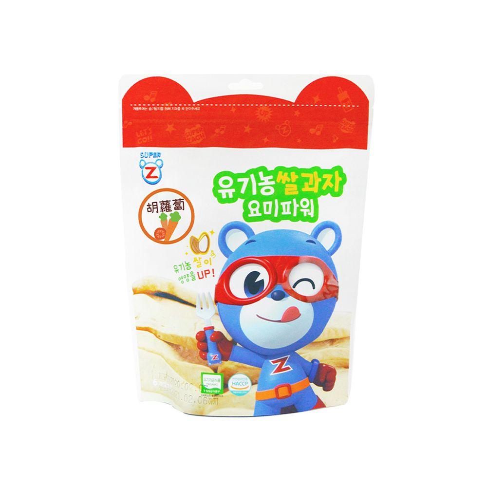 韓國-超人傑克 - 大米米餅-胡蘿蔔-20g