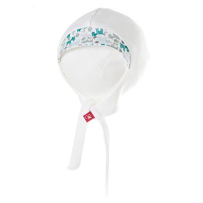 有機棉嬰兒帽-叢林動物-淺綠 (0-6m)