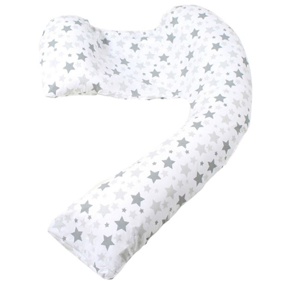 Dreamgenii 英國夢妮 - 多功能孕婦枕-灰白星星