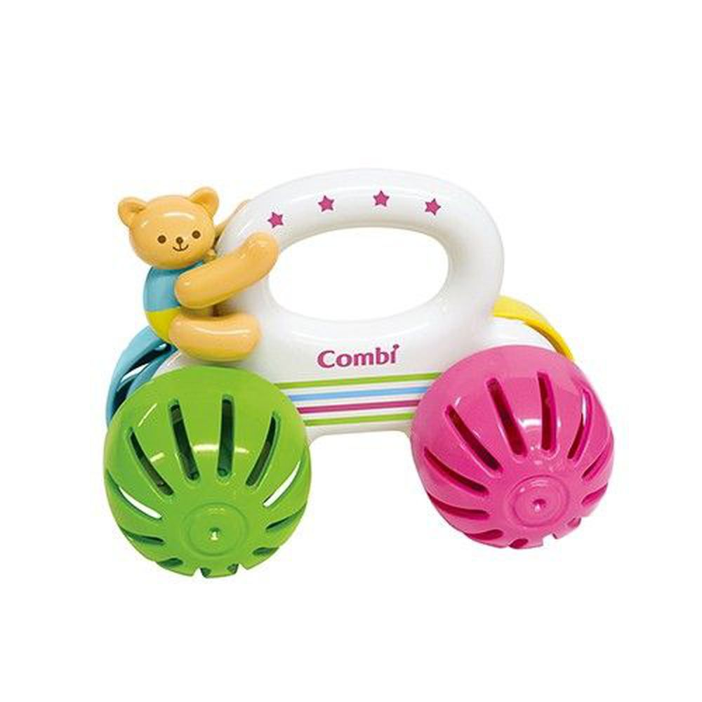 日本 Combi - 小熊車車手搖鈴-6個月以上