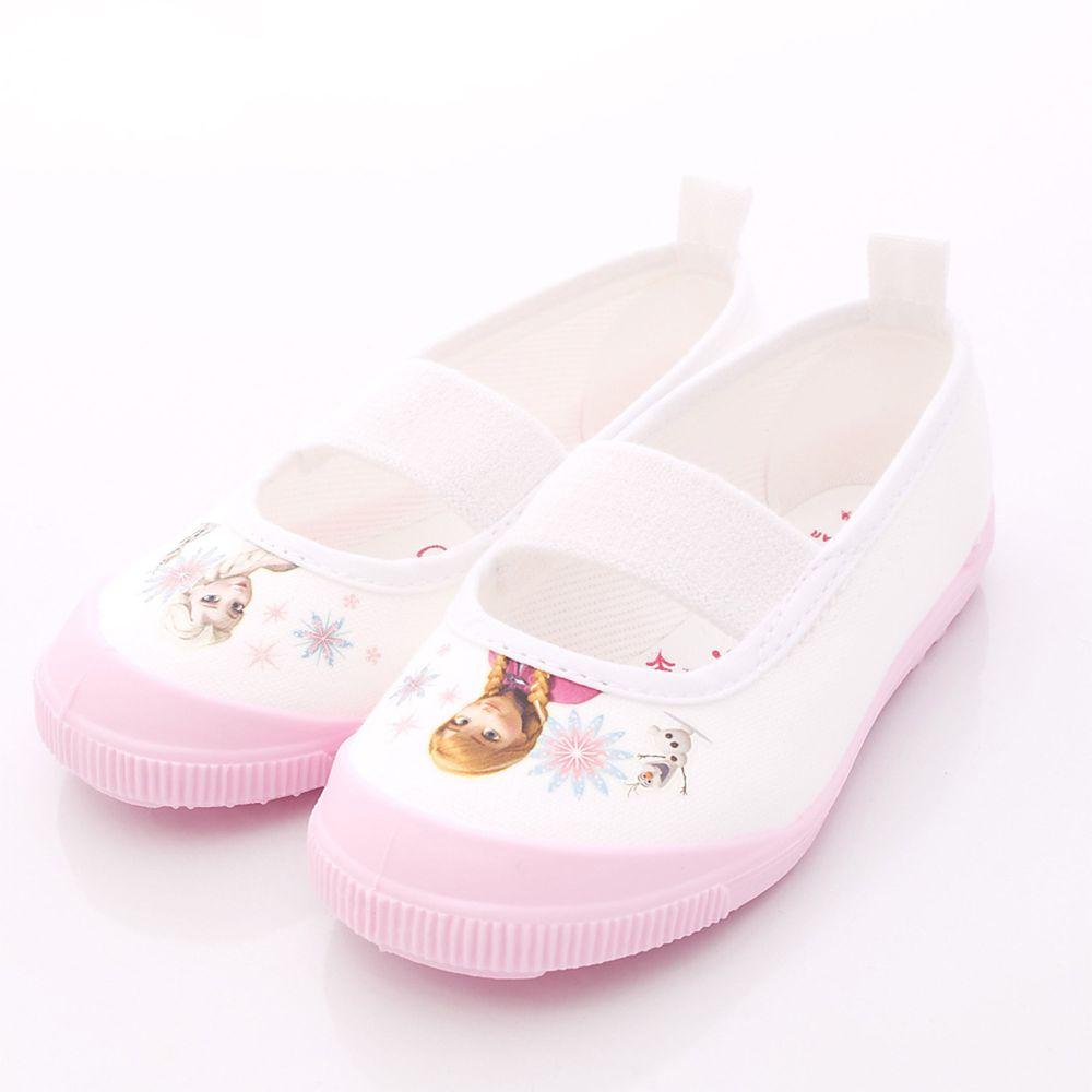 Moonstar日本月星 - 日本月星機能童鞋-日本製冰雪奇緣室內鞋防潑水版(中小童段)-粉
