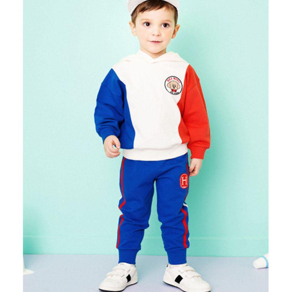 韓國 HEJMINI - 紅藍白狗狗徽章套裝-象牙白