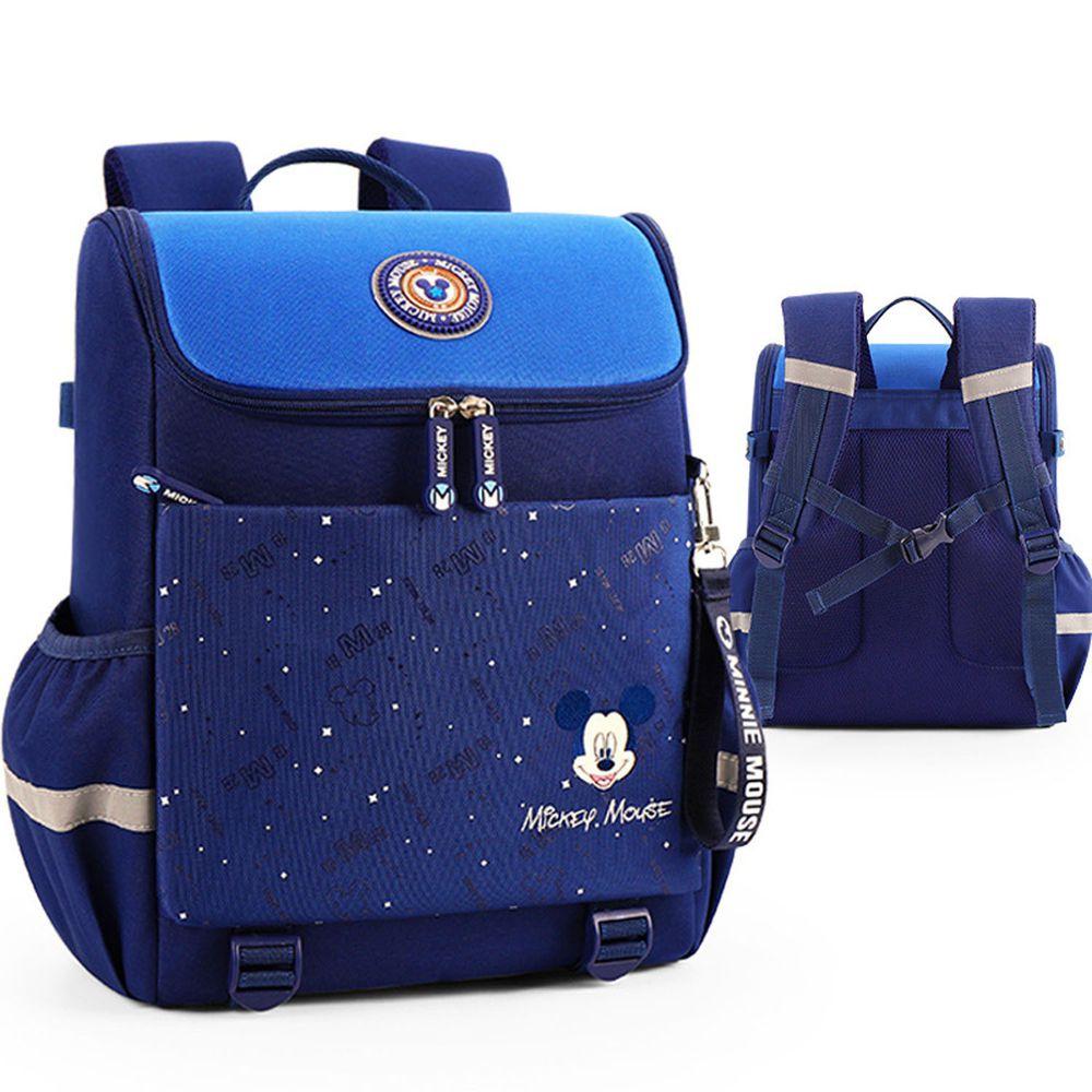 大容量輕量減壓書包-卡通人物米奇-藍色 (建議身高110-135cm)