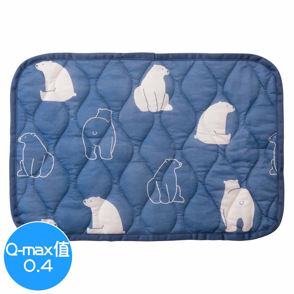 日本小泉 - 節電對策冷感波浪紋枕頭墊-北極熊20-深藍 (43x63cm)