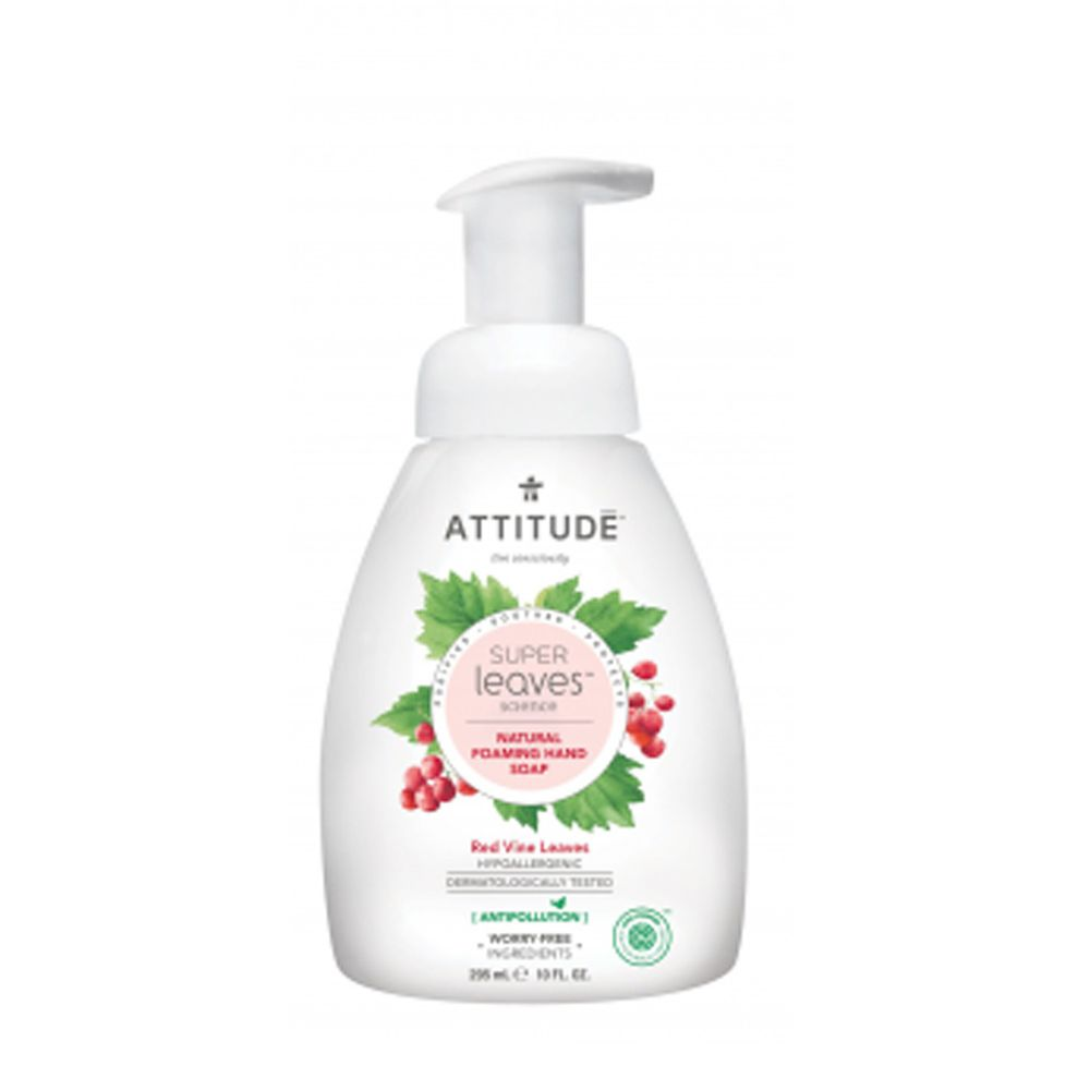 加拿大 ATTITUDE 艾特優 - Super leaves泡沫洗手乳-紅色藤葉-(效期:2021/09/17)-295ml