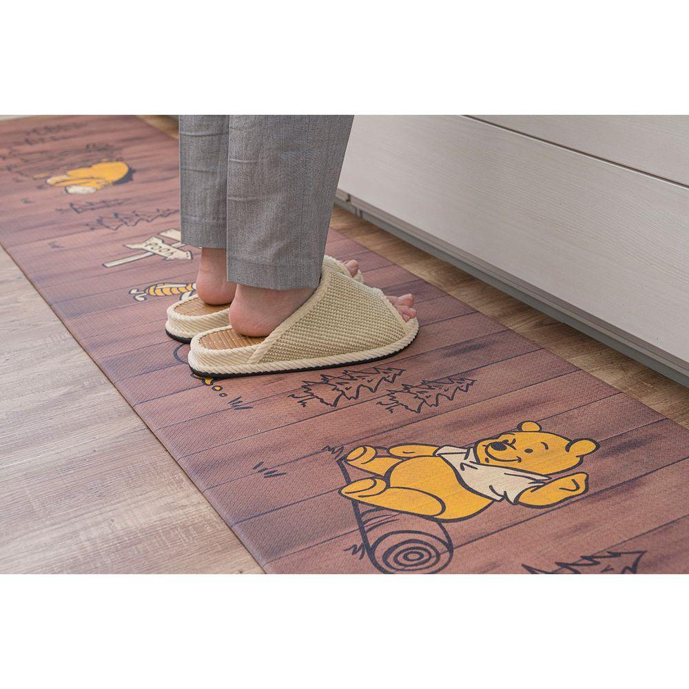 日本千趣會 - 迪士尼 長條型腳踏墊(廚房/臥室)-木板維尼好朋友