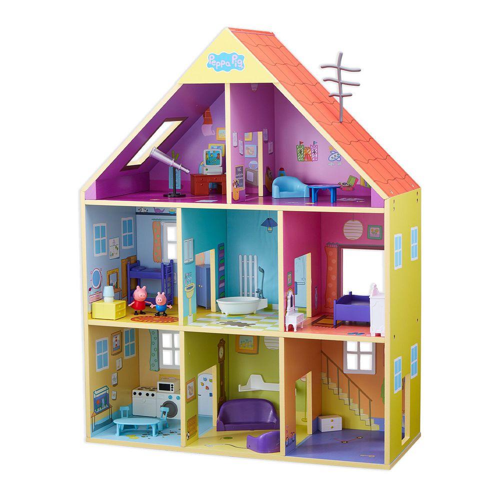 Peppa Pig 佩佩豬 - 【平台首賣】粉紅豬小妹-超質感巨型木製房屋組-12/20出貨