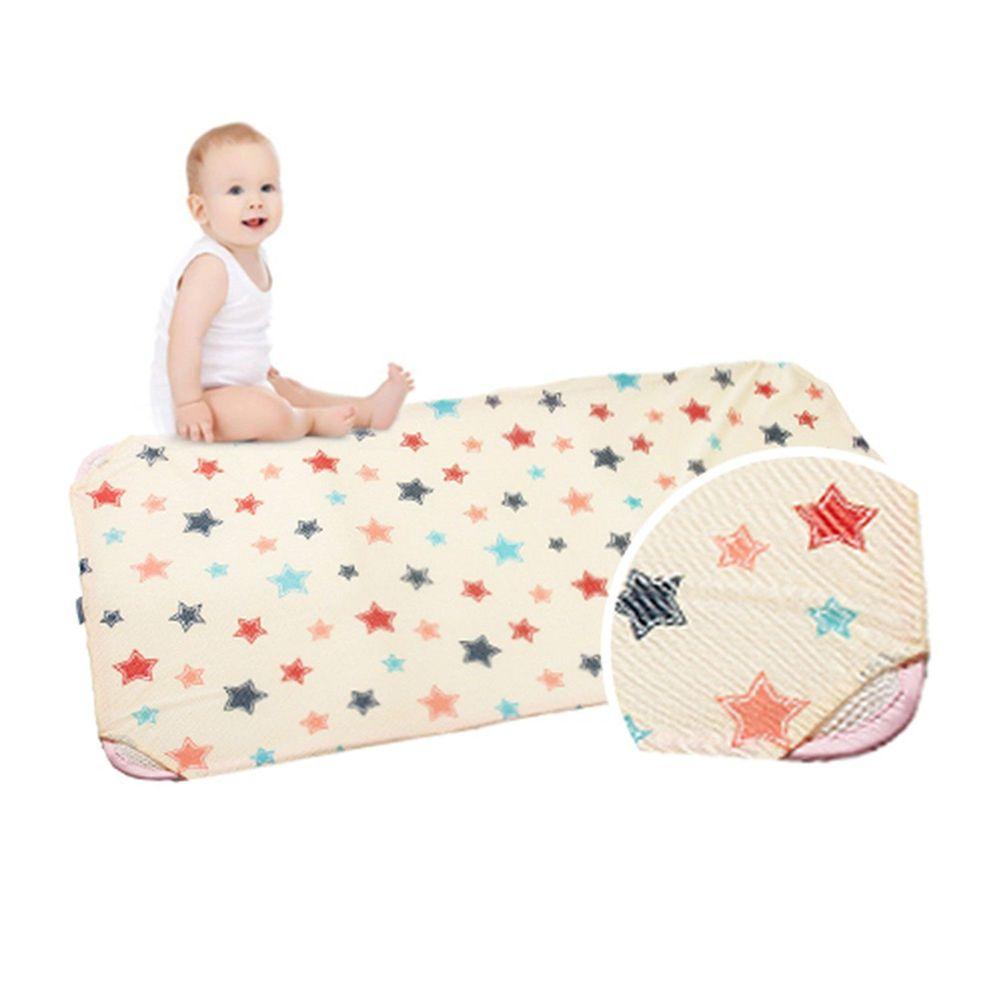 韓國 GIO Pillow - 智慧二合一有機棉超透氣排汗嬰兒床墊-香草星星 (XM號)