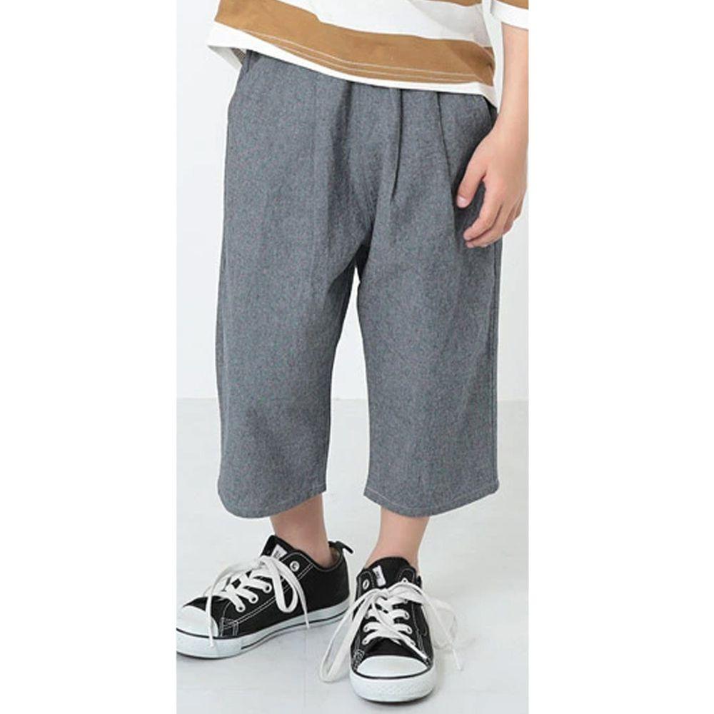 日本 devirock - 純棉舒適直筒七分寬褲-海軍藍