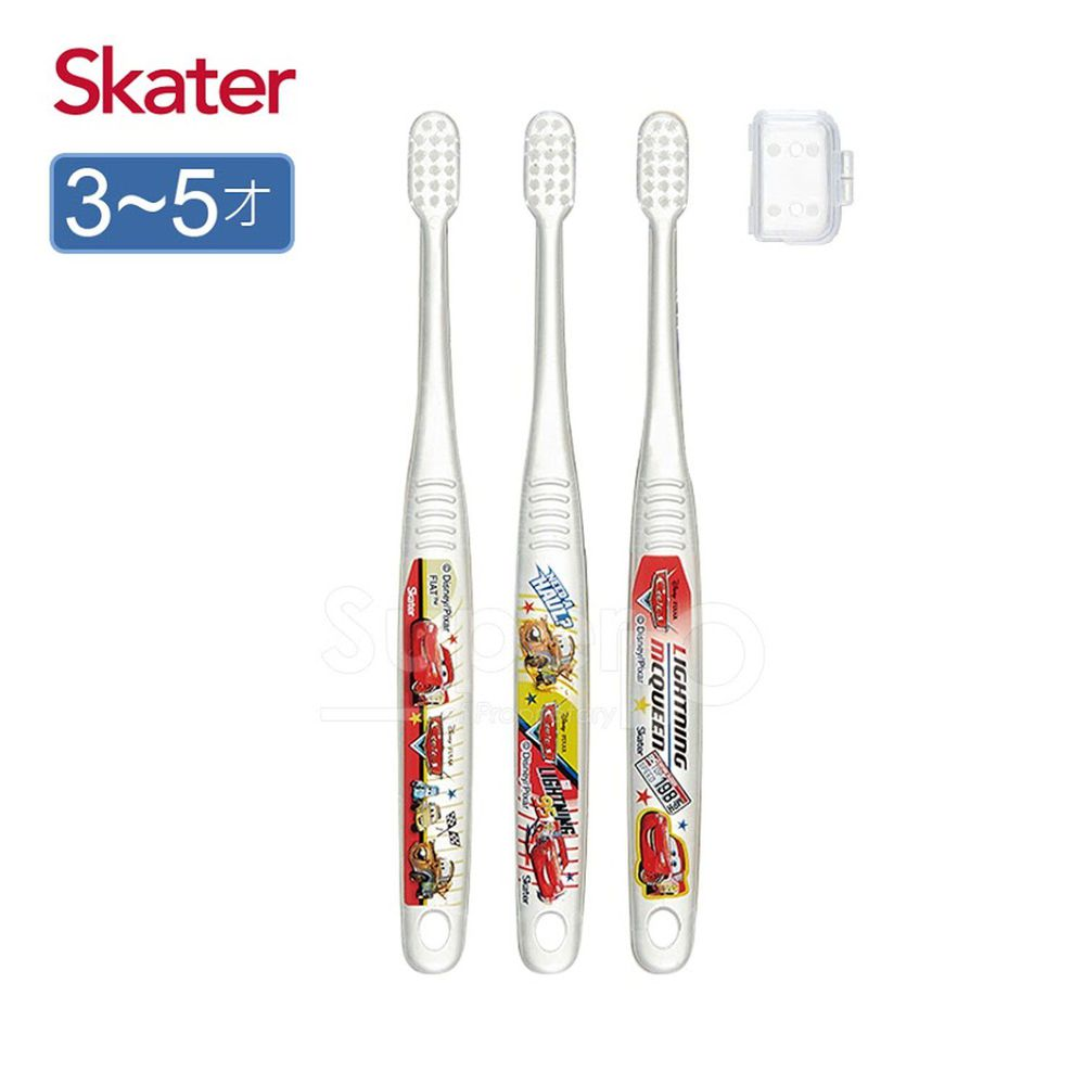 日本 SKATER - 兒童牙刷(3-5歲)3入組-閃電麥昆