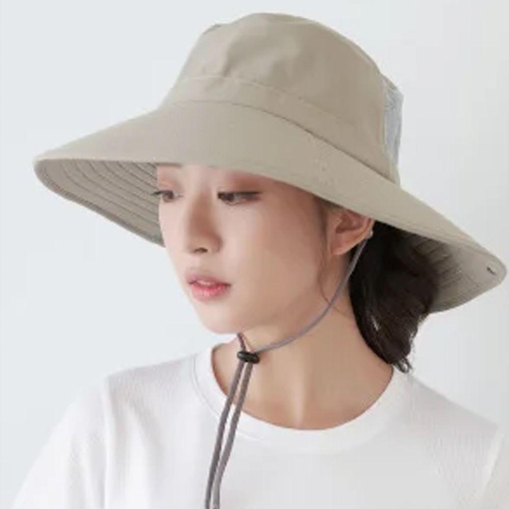 貝柔 Peilou - UPF50+多功能四折遮陽帽-卡其