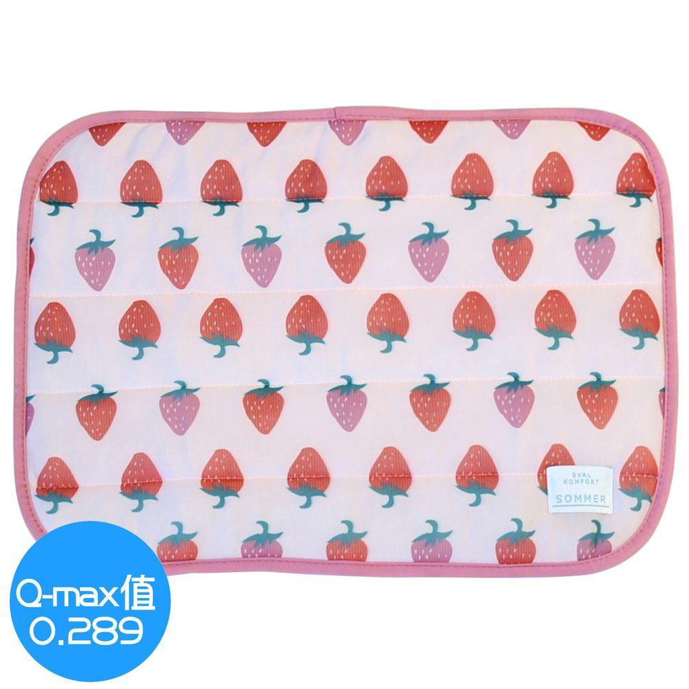 日本 DAIKAI - 接觸涼感枕頭套-香甜草莓-粉紅 (50x37cm)