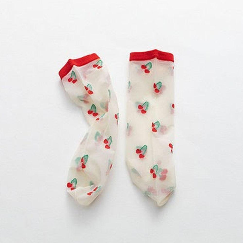 兒童半筒絲襪-紅色櫻桃 (1-8歲)
