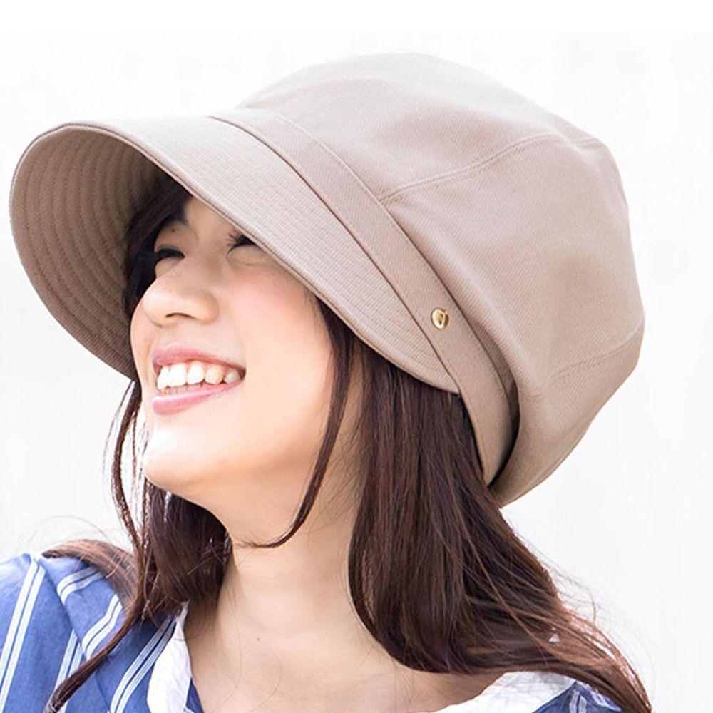 日本 irodori - 【irodori】抗UV小顏效果遮陽帽-摩卡 (L(61cm))