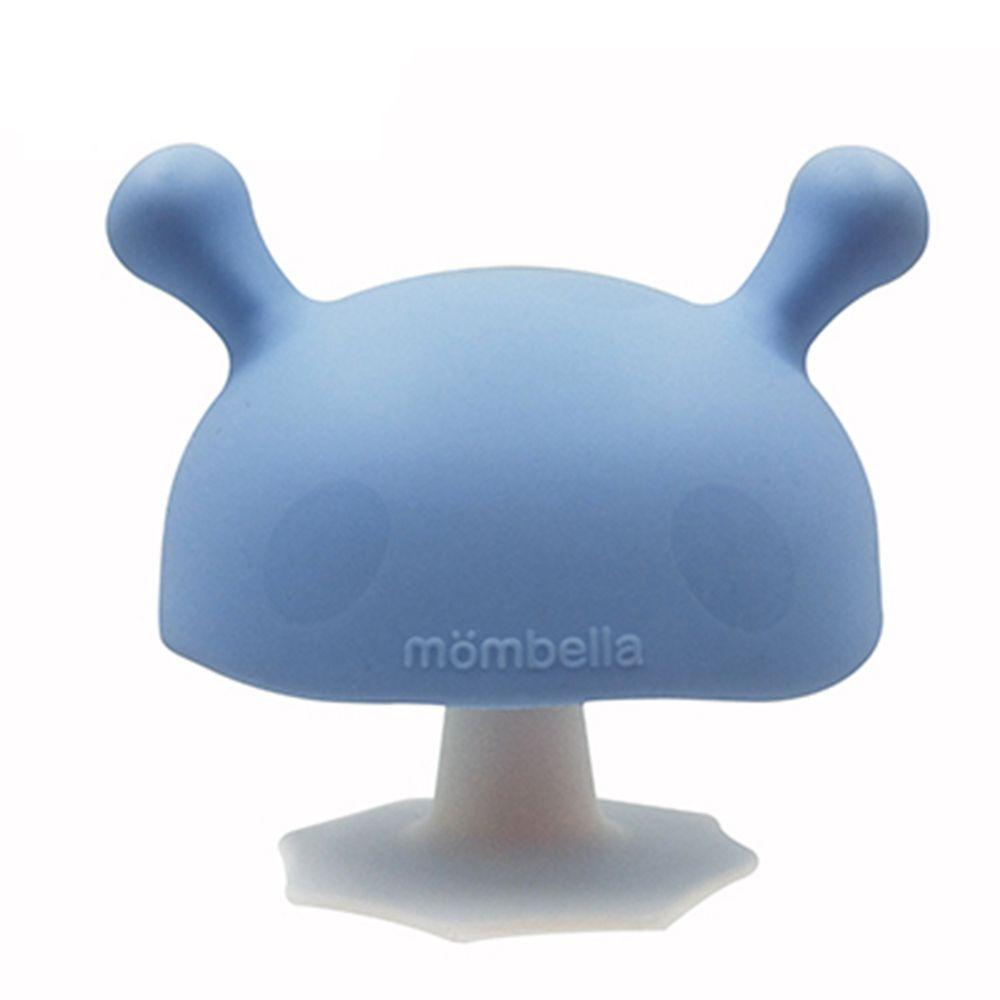 英國 mombella - Q比蘑菇固齒器-淡藍