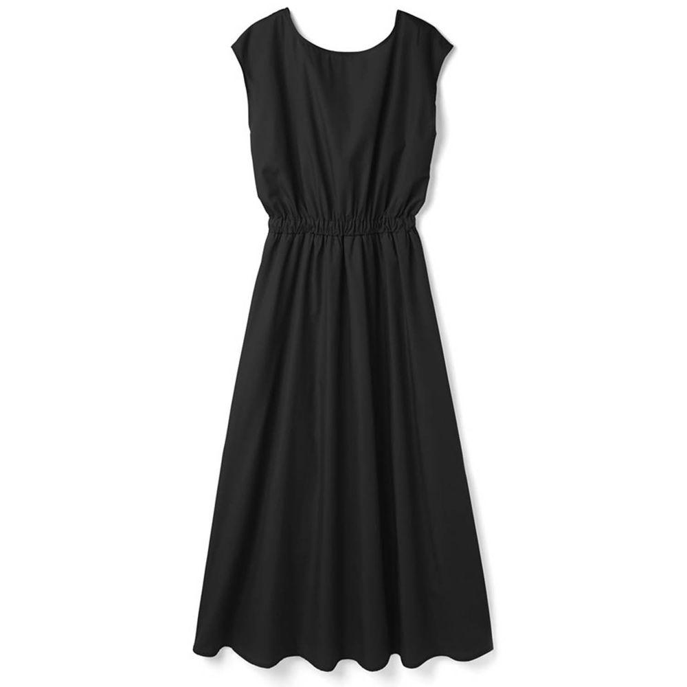 日本 GRL - 美背大蝴蝶結綁帶無袖洋裝-時尚黑