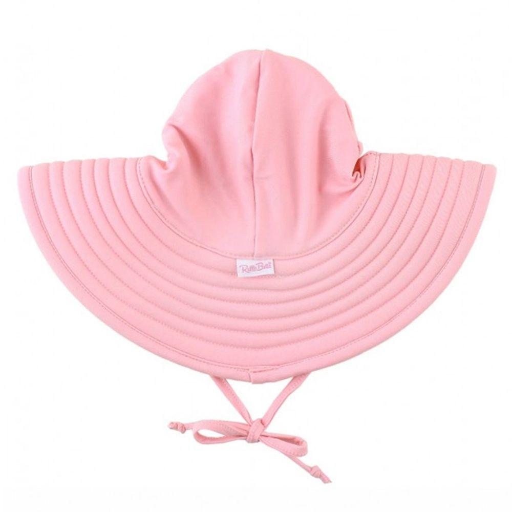 美國 RuffleButts - 嬰幼兒UPF 50+防曬遮陽帽-甜美粉