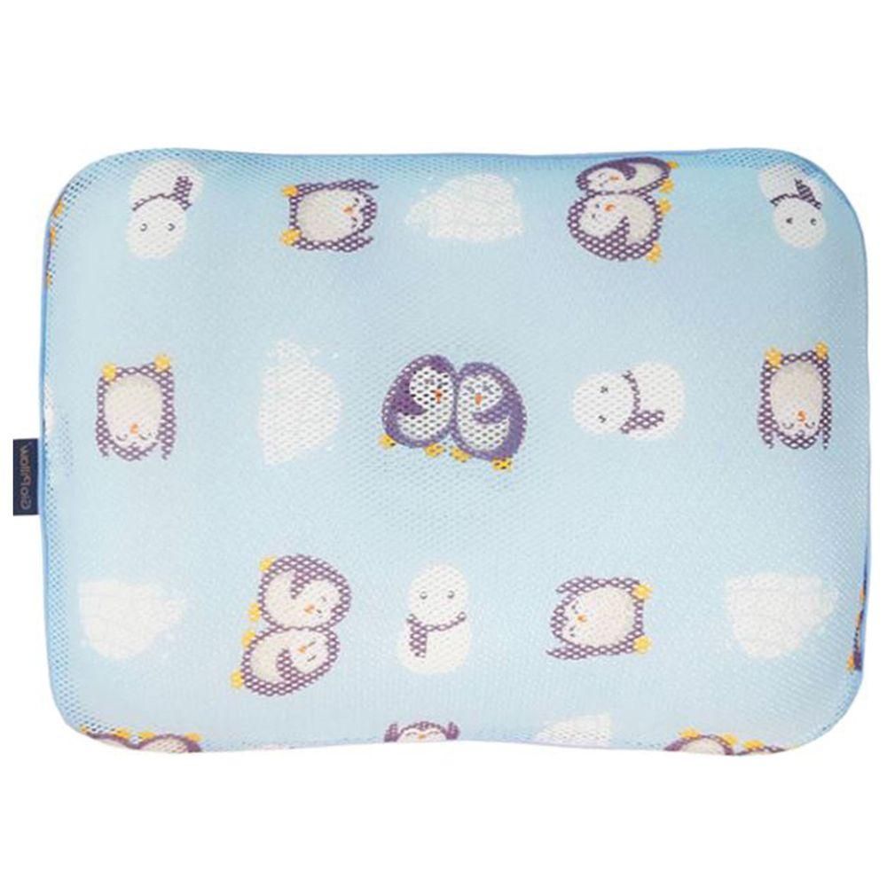 韓國 GIO Pillow - 超透氣防螨兒童枕頭-單枕套組-親親企鵝 (L號)-2歲以上適用
