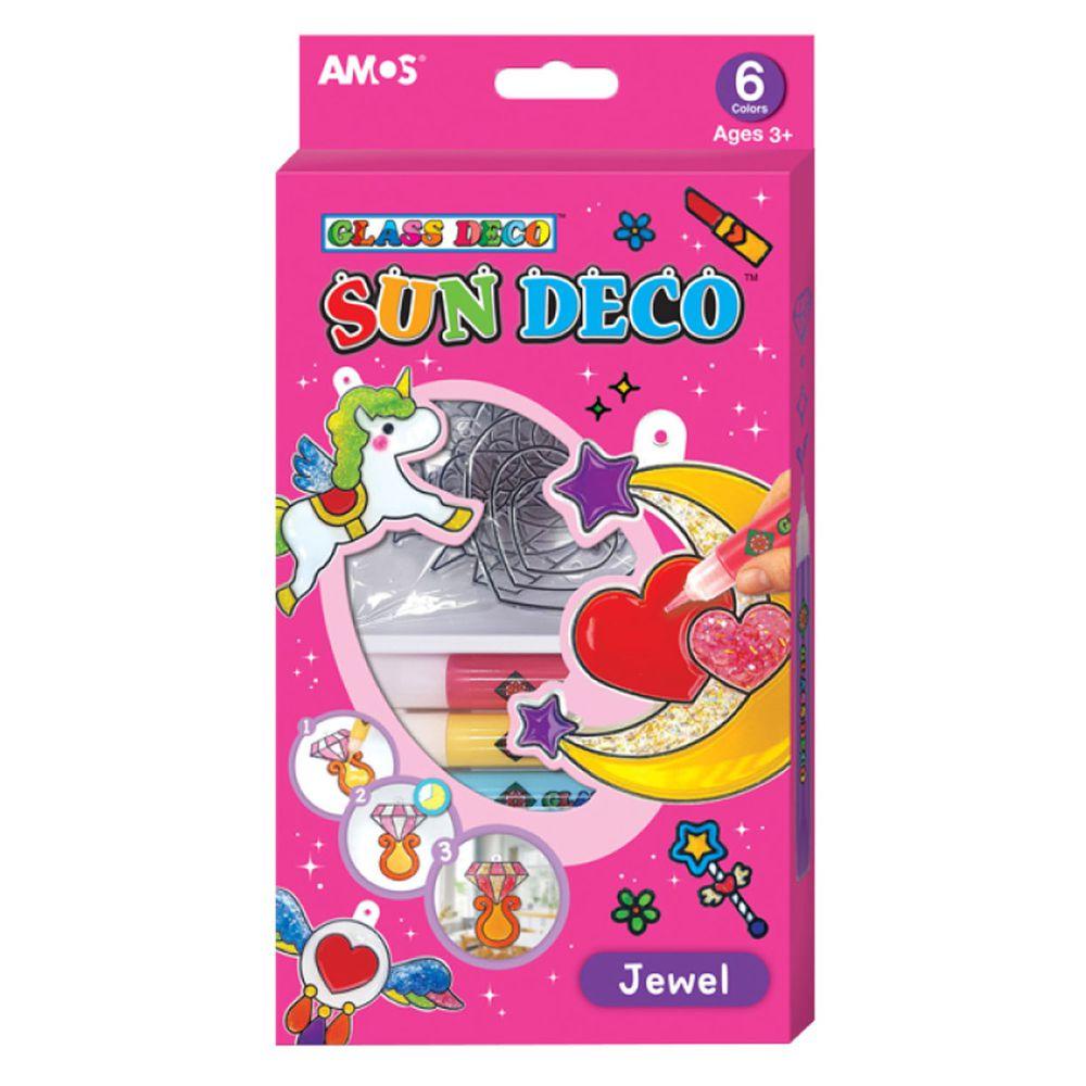 韓國 AMOS - 6色飾品集主題吊飾玻璃彩繪膠