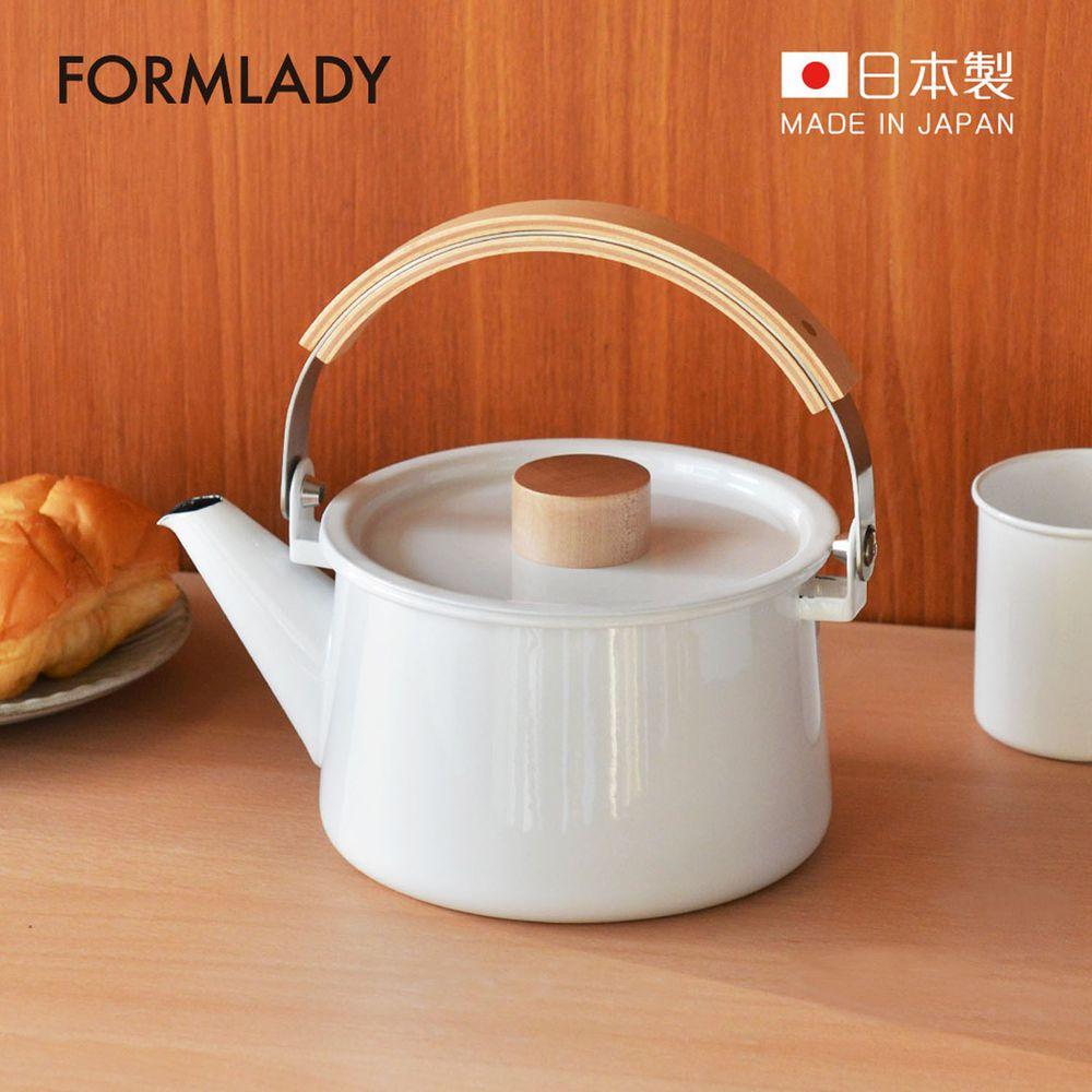 日本 FORMLADY - 小泉誠 kaico 日製原木柄琺瑯茶壺-1.45L