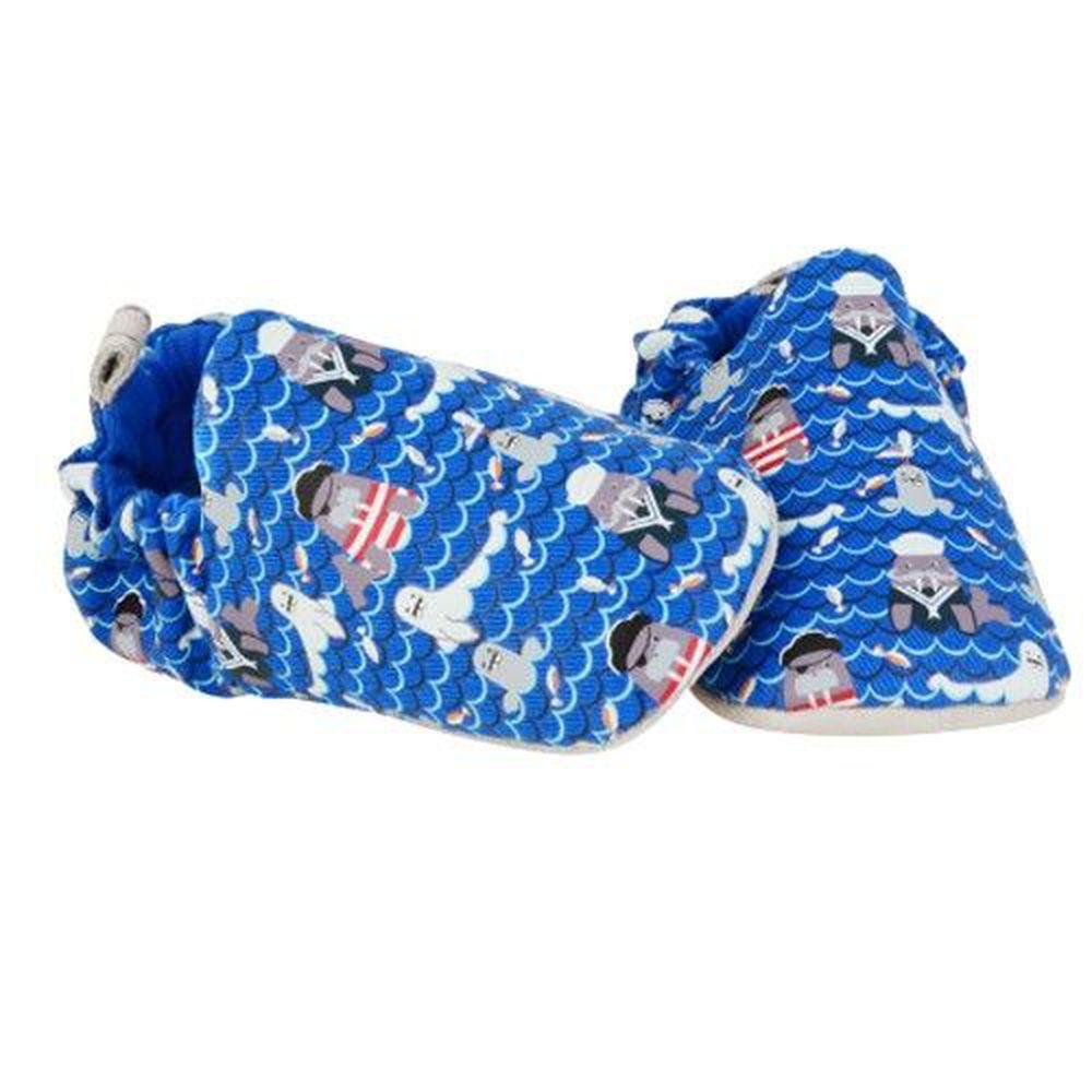 英國 Poconido - 寶寶手工鞋/學步鞋-海獅與海象