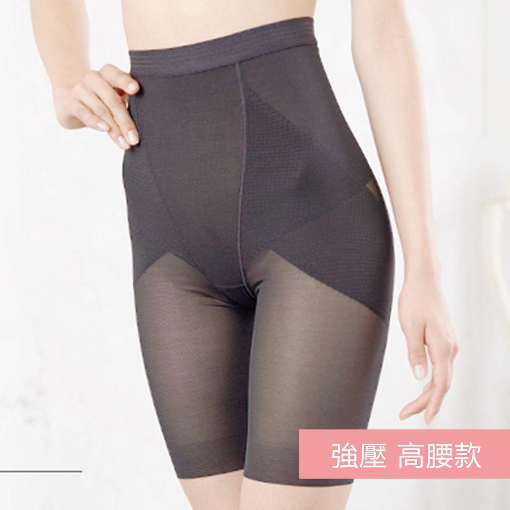 日本服飾代購 - 日本製 輕薄透氣穩定骨盤提臀塑身褲-強壓 高腰款-成熟黑