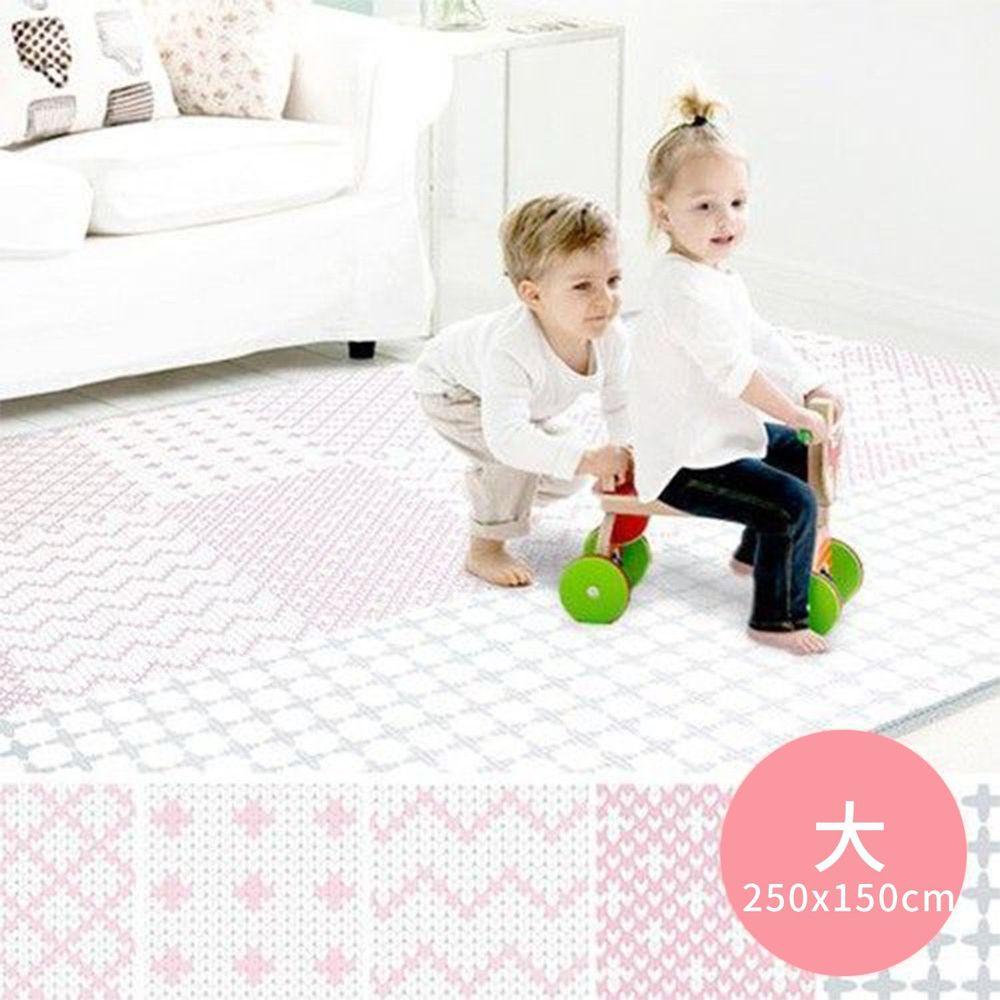 韓國 Foldaway - PE遊戲爬行墊-大-Rose Quartz 玫瑰線條 (250x150cm)
