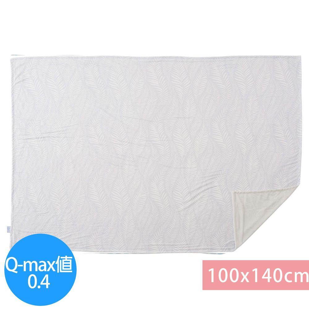 日本小泉 - 節電對策冷感薄毯-搖曳水草-灰 (100x140cm)