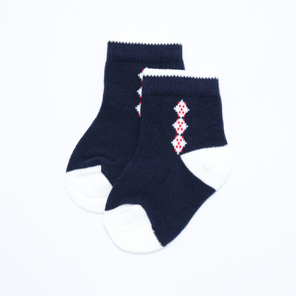 akachan honpo - 襪子-菱格-深藍色