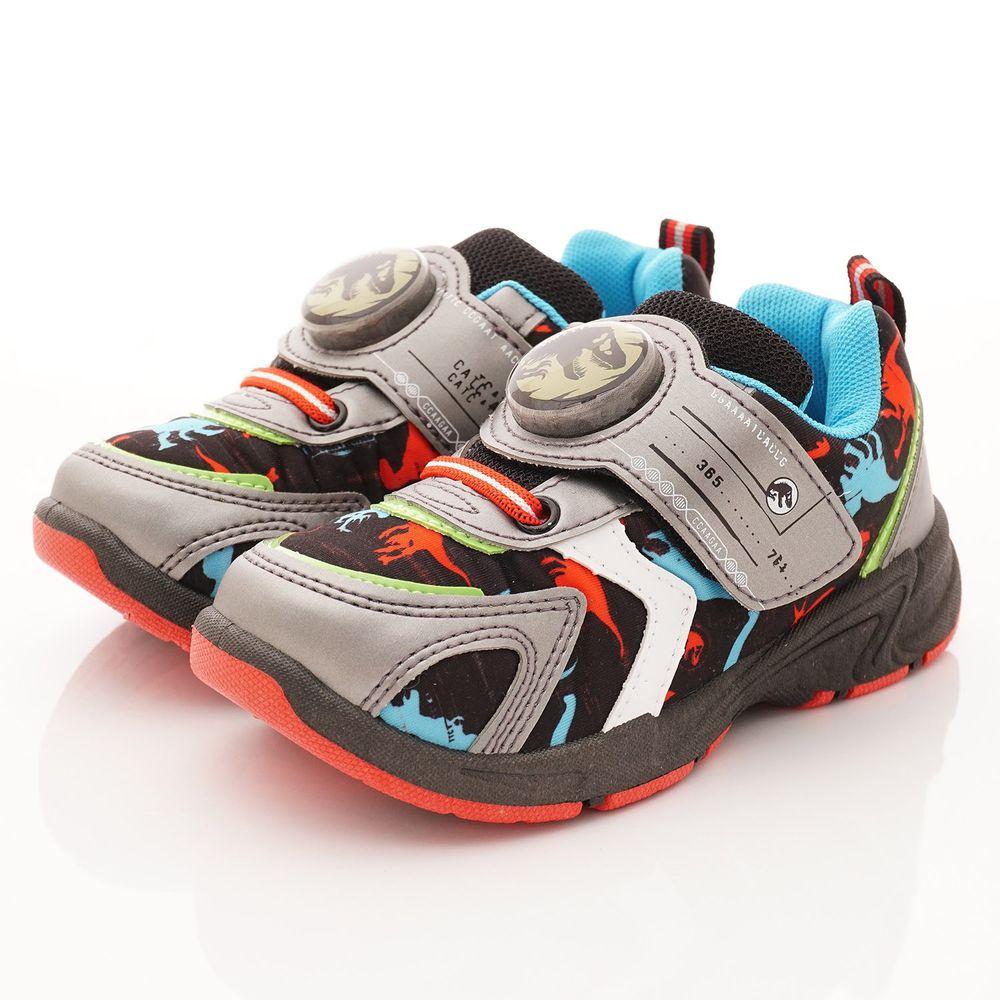 侏羅紀世界 - 卡通童鞋-電燈運動鞋款(中小童段)-灰