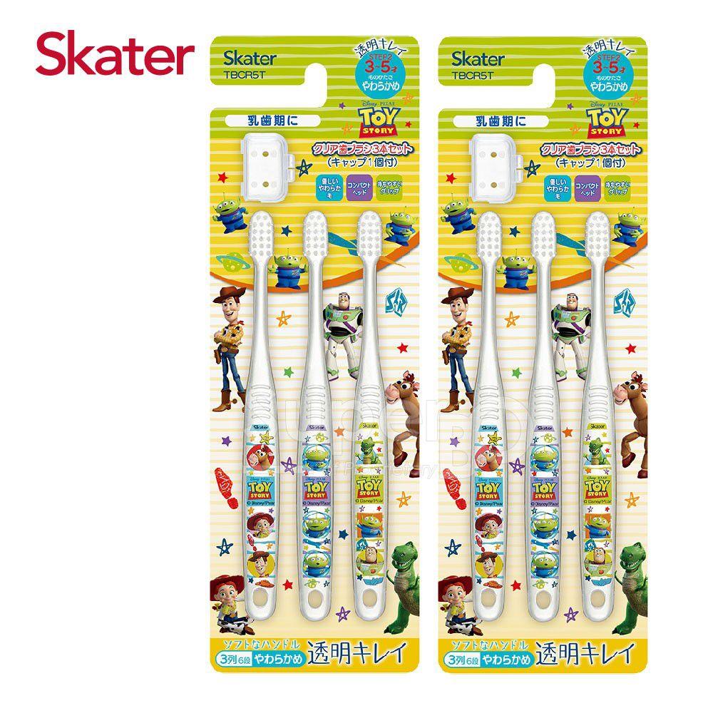 日本 SKATER - 兒童牙刷(3-5歲)組合 共6支-玩具總動員