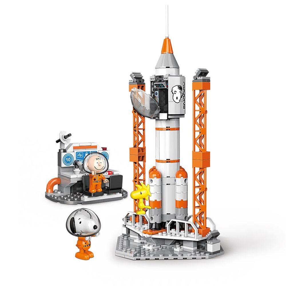 Linoos - 史努比70周年太空系列-火箭發射站-304片