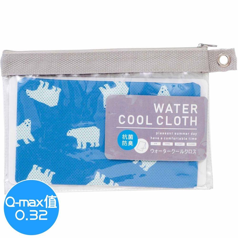 日本小泉 - UV cut 90% 水涼感巾(附收納袋)-北極熊20-水藍 (30x90cm)