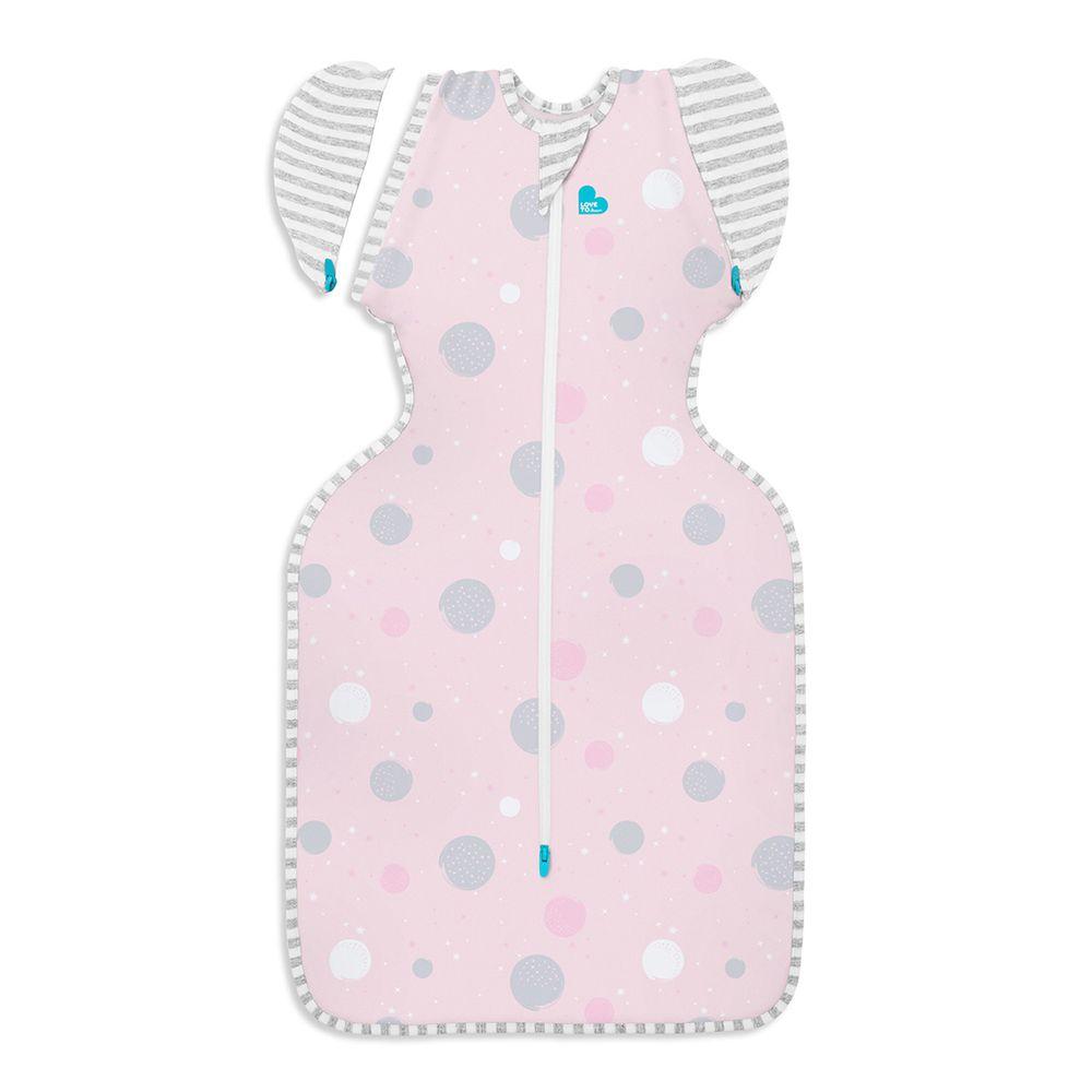 澳洲 Love to dream - SWADDLE UP 蝶型包巾-第二階段-可拆袖 輕薄款睡袋-粉 (M [6-8.5kg])