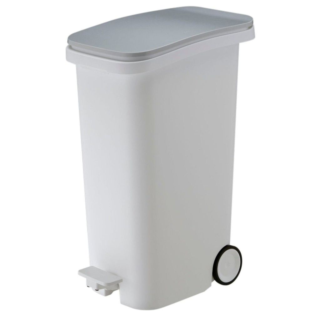 日本RISH - Smooth|踩踏式緩衝靜音垃圾桶-金屬色-31L