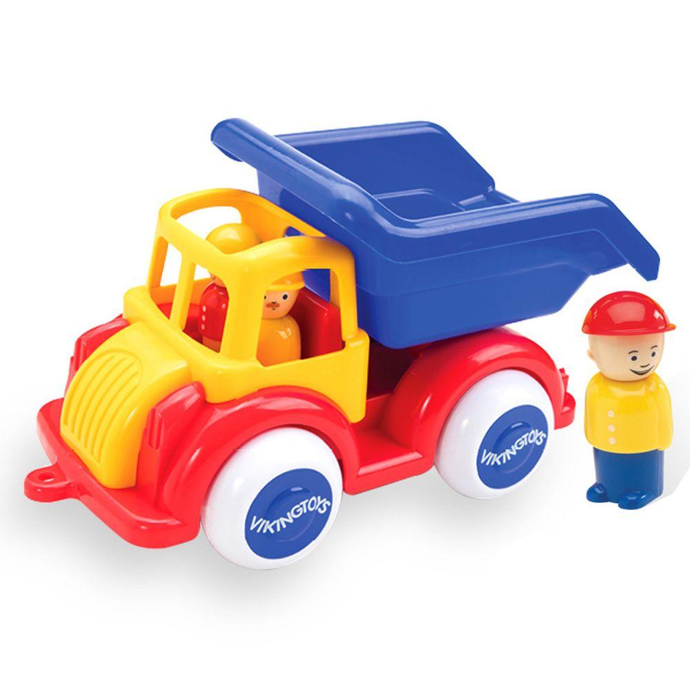 瑞典Viking toys - Jumbo運砂車(含2隻人偶)-28cm