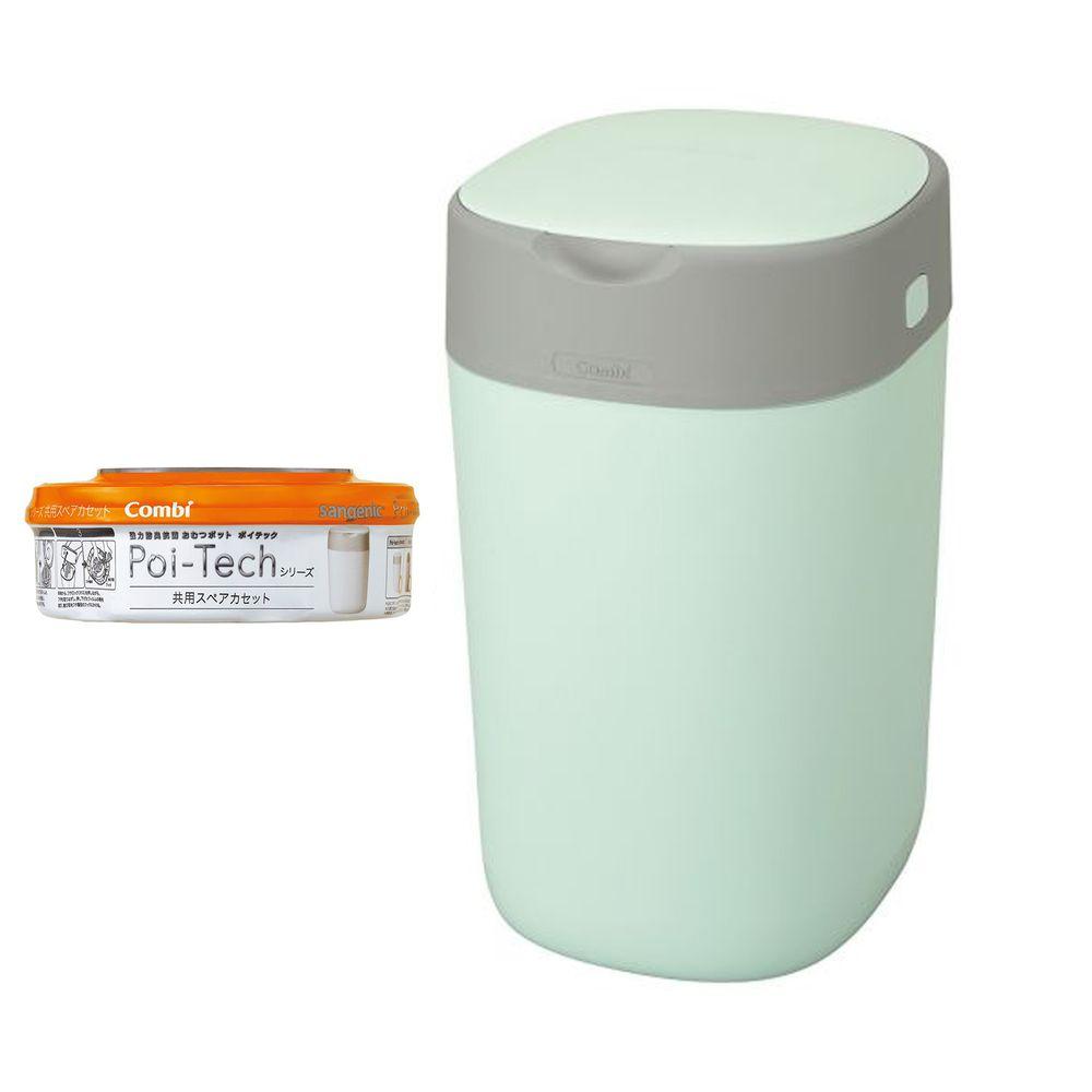 日本 Combi - Poi-Tech Advance 尿布處理器+膠捲1入-薄荷綠