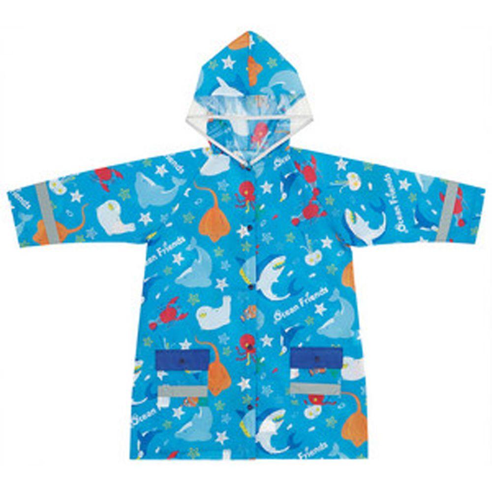 日本 SKATER 代購 - 兒童雨衣(附安全反光貼條)-海底好朋友 (110~125cm通用)