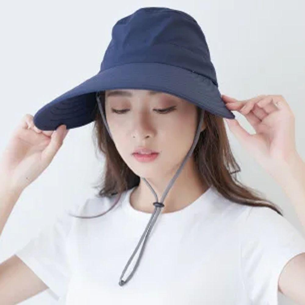 貝柔 Peilou - UPF50+多功能淑女護頸遮陽帽-深藍