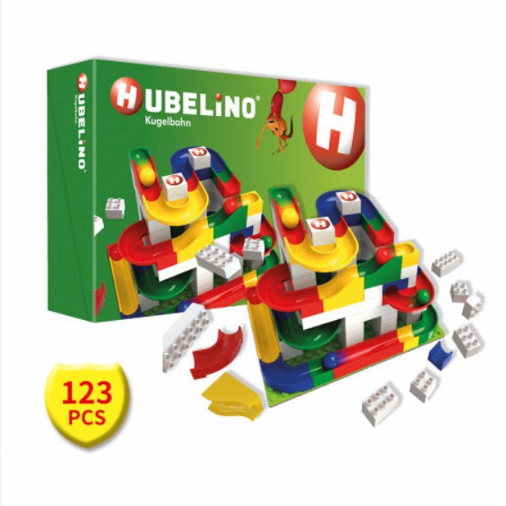 德國 HUBELiNO - 軌道式積木套件組合 - 123PCS