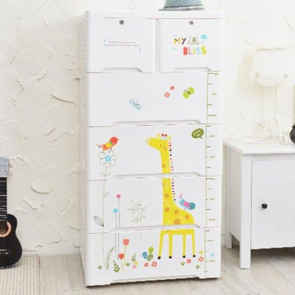 家窩 - 65面寬-特大款安圖森五層收納櫃(DIY組裝)-童年時光-單層55L*5層