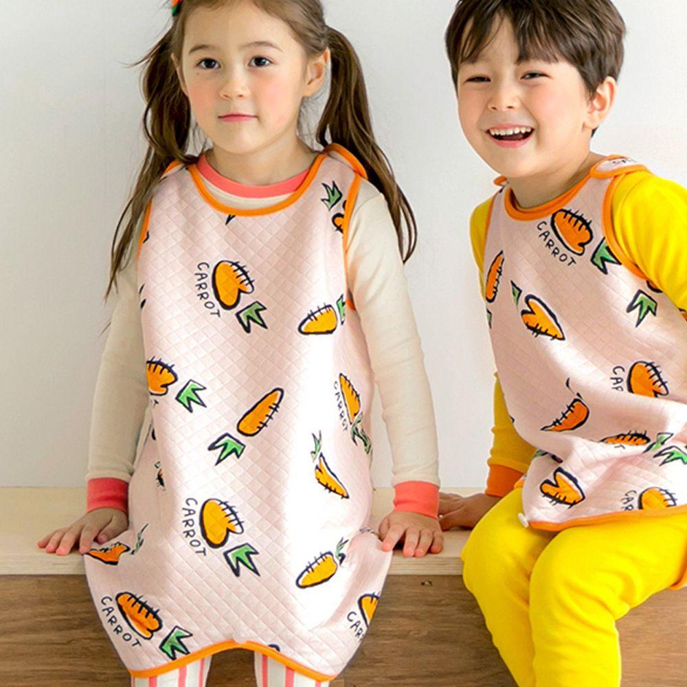 韓國 Maykids - 有機棉鋪棉保暖防踢被-可愛胡蘿蔔