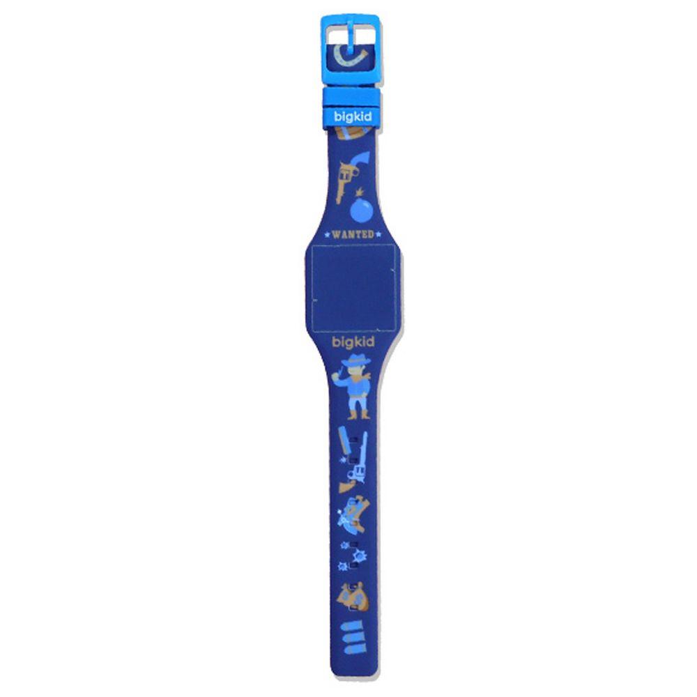 韓國 bigkid - 香香LED電子錶-深藍(橘子香)