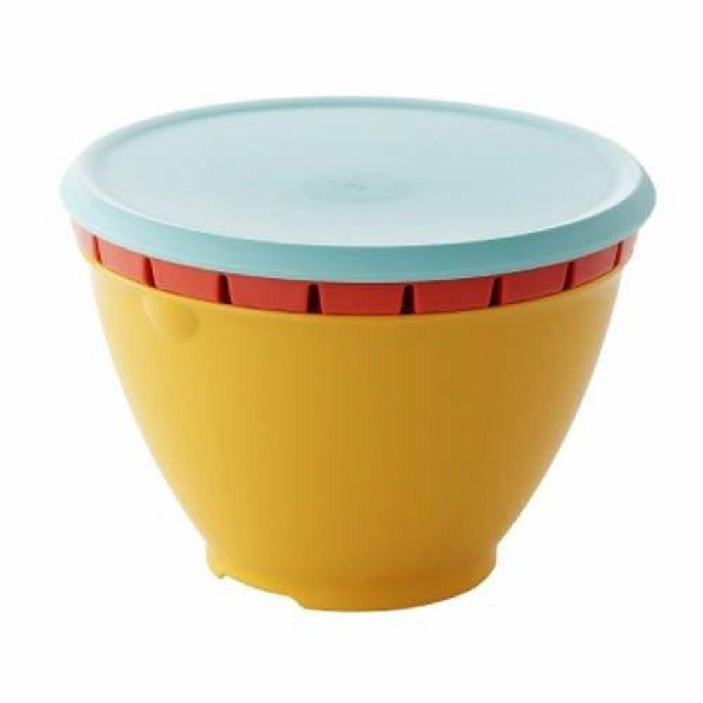 日本 LIBERALISTA - 多用途 可微波 耐熱瀝水籃組-熱情系 (大)
