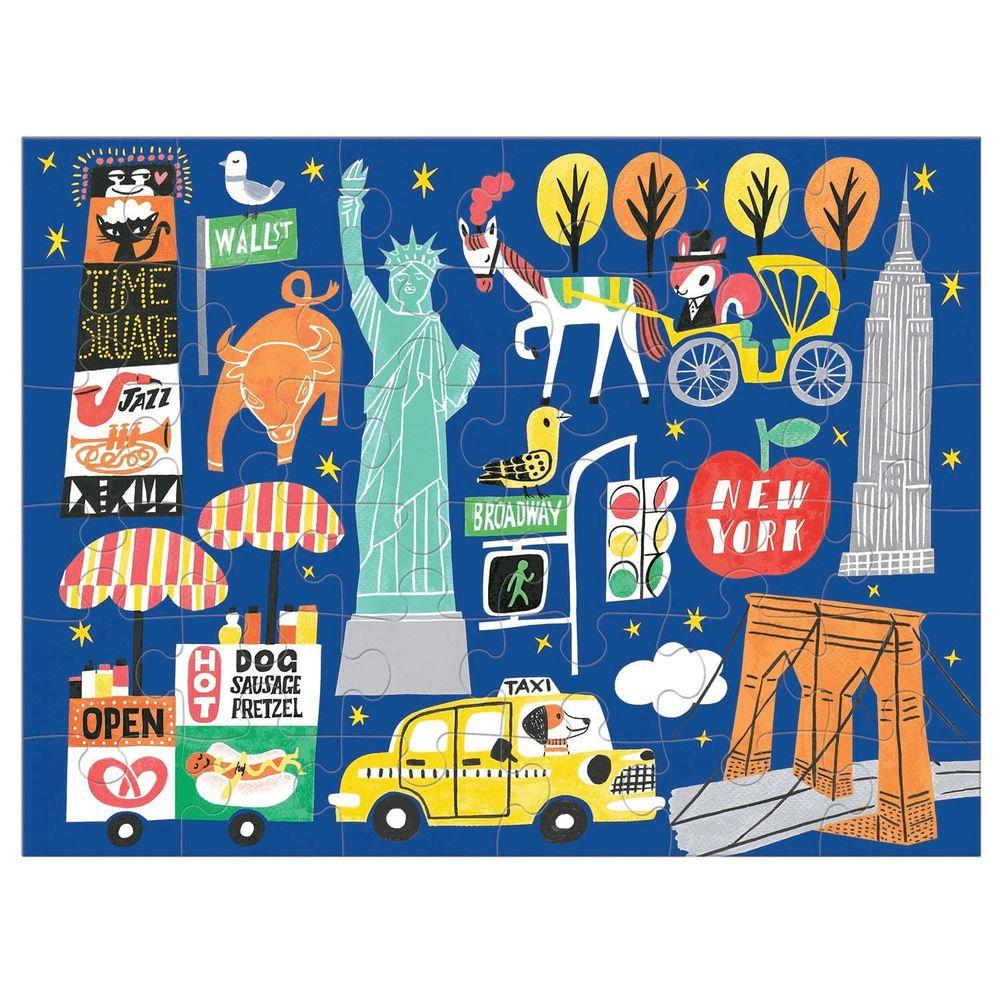 美國 mudpuppy - 美國 mudpuppy-隨身拼圖-紐約市-36片-紐約市-團購專案