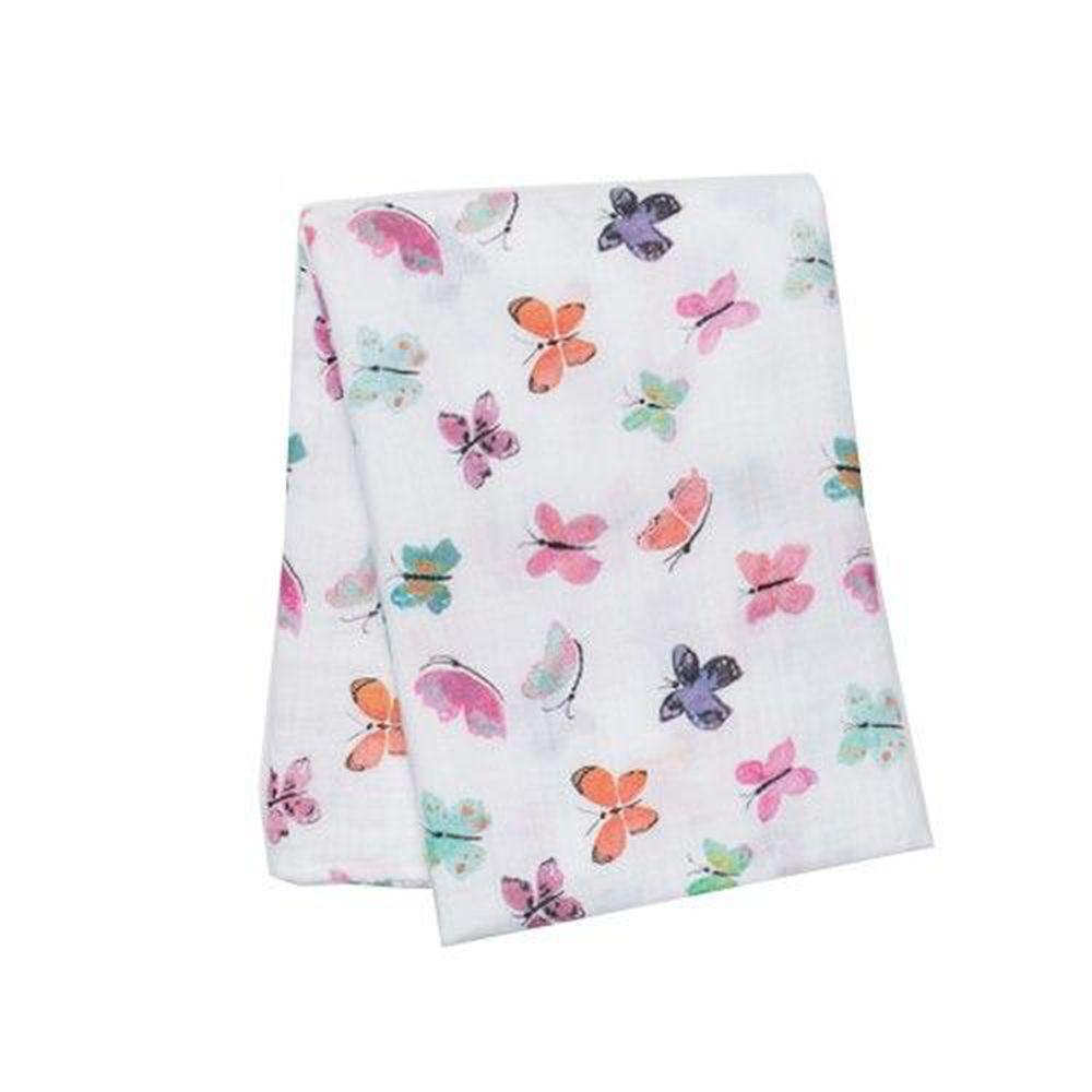 加拿大 lulujo - 嬰兒包巾-蝴蝶