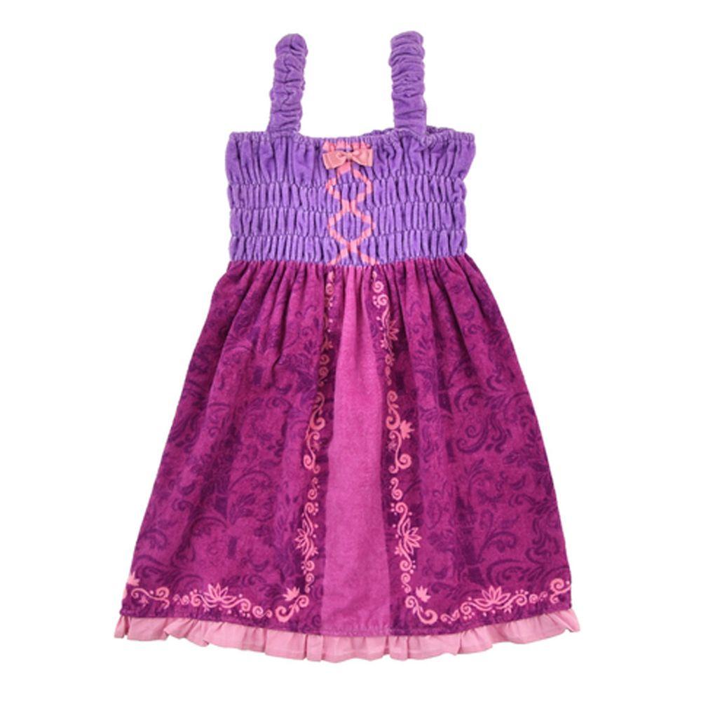 日本服飾代購 - 迪士尼公主造型浴巾/浴袍-長髮公主-紫 (身高105~115cm)