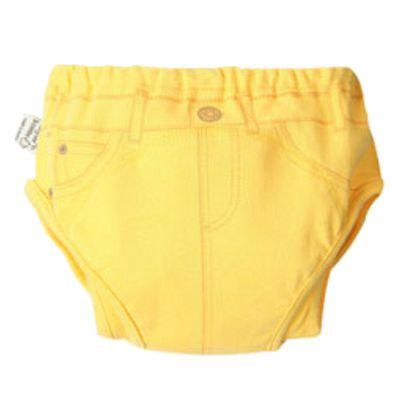三層防側漏學習褲-黃