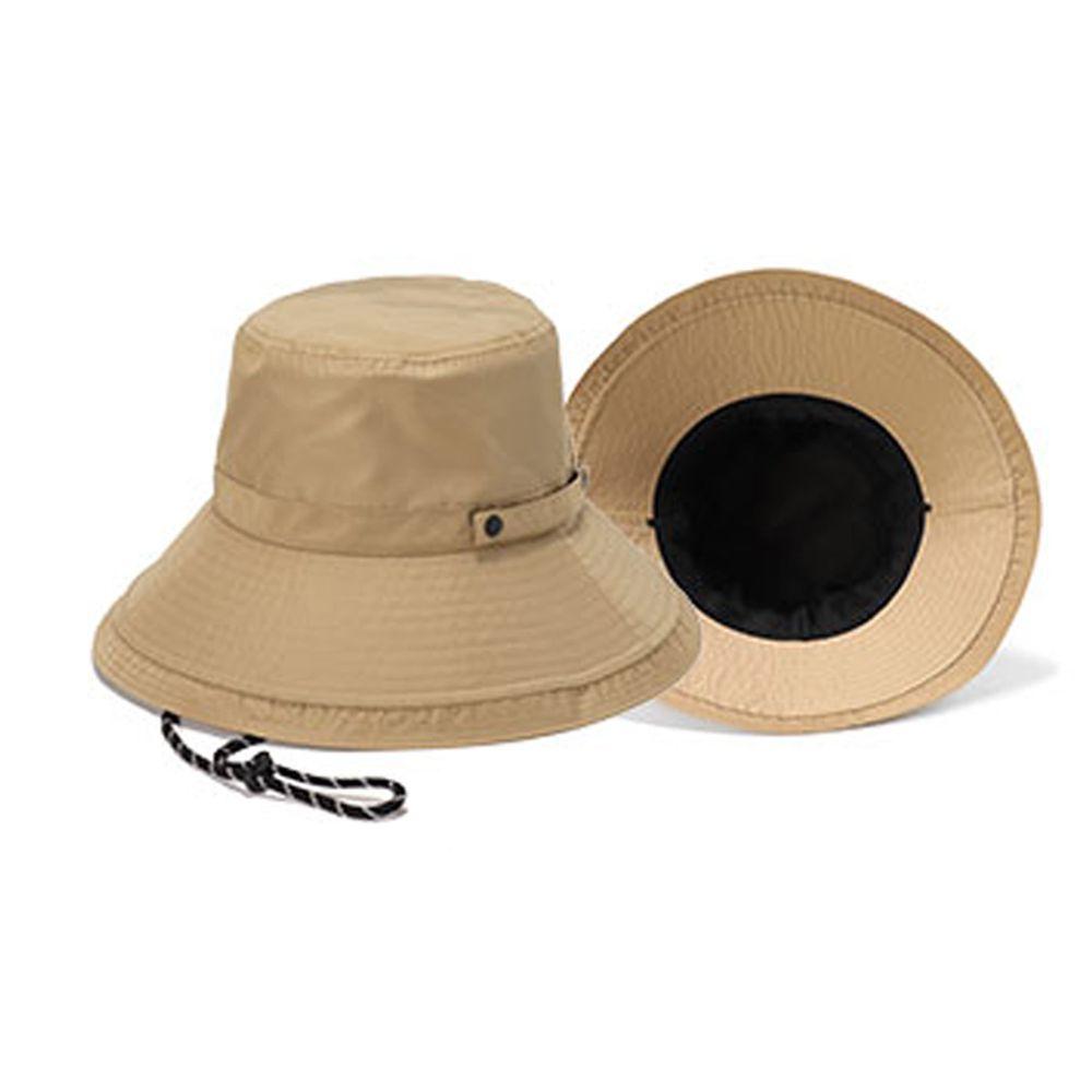 日本服飾代購 - 【irodori】抗UV可捲收防潑水遮陽帽(附防風帽帶)-氣質杏
